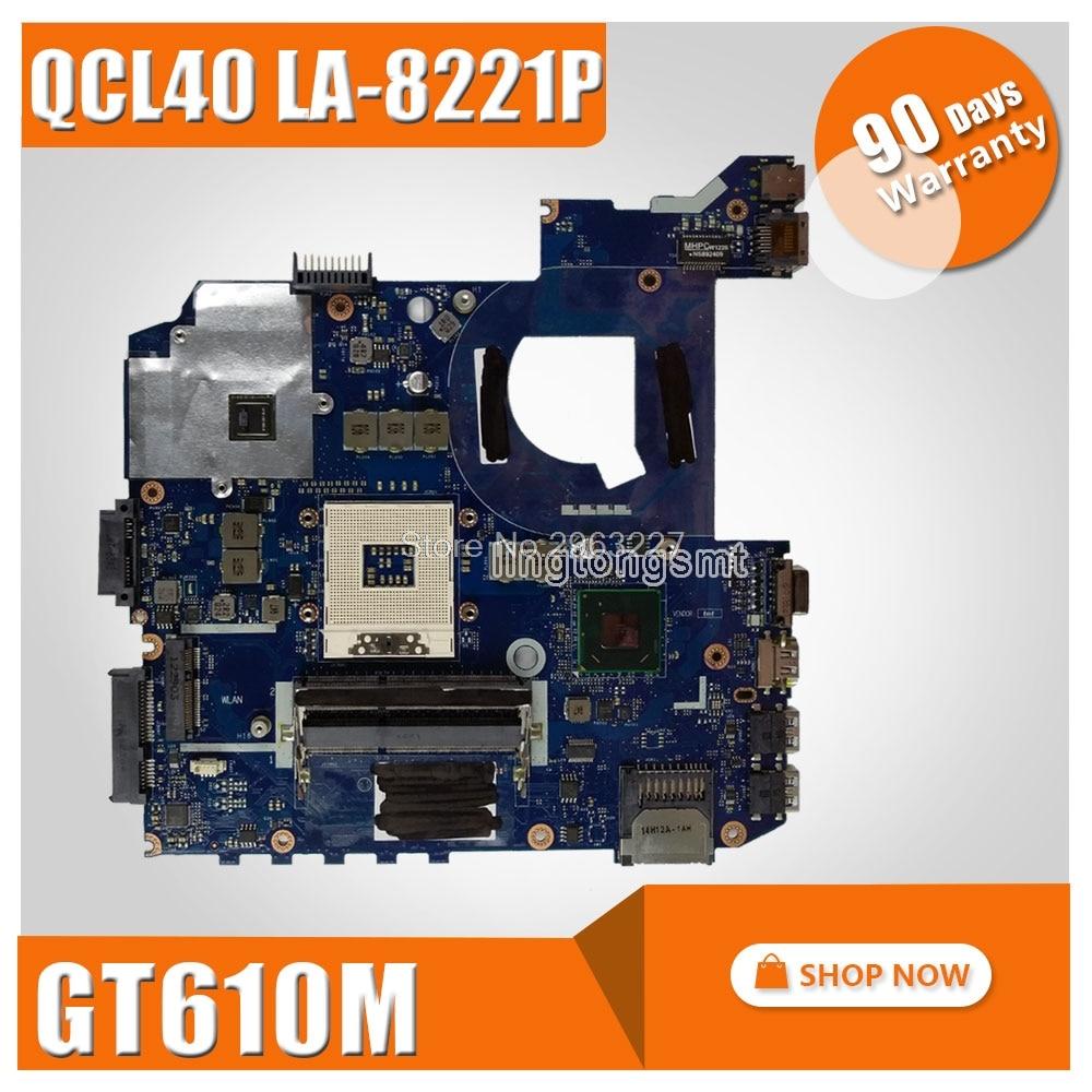 K45VD Motherboard QCL40 LA-8221P REV1.0 GT610M 2G For ASUS A85V K45VS K45VM Laptop Motherboard K45VD Mainboard K45VD Motherboard