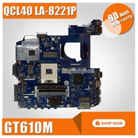 K45VD Motherboard QCL40 LA 8221P REV1.0 GT610M 2G For ASUS A85V K45VS K45VM Laptop motherboard K45VD Mainboard K45VD Motherboard