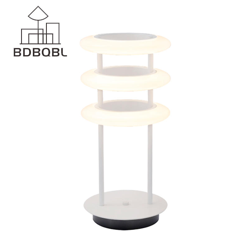 BDBQBL Nordic Design Table Lamp Modern Simple Bedroom Study Living Room Glass Circle Table Lamp Personality Bedside Lamp New tuda glass shell table lamps creative fashion simple desk lamp hotel room living room study bedroom bedside lamp indoor lighting
