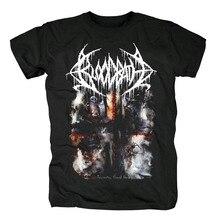 Camiseta masculina preta tamanho asiático bloodhoof bloodbath heavy metal morte