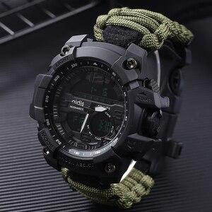 Image 1 - Addies choque esporte relógio grande dial quartzo digital militar à prova dmilitary água masculino relógios de pulso masculino relógio esportivo masculino com bússola
