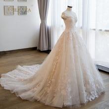 QILAMCA off the shoulder muslim wedding dress bridal gown
