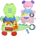 Baby Toys Crocodile/Bear Teether Scarf  Handkerchief Soothe Towel Rattles Gift For Soothe Towel Educational Plush Toys