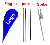 18 A Todo Color de Encargo de La Bandera de Lágrima Publicidad Signo Hoja Bandera Polo y Pico