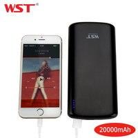 WST 20000 mAh כוח בנק אוניברסלי נייד USB הכפול כוח בנק 20000 mAh עבור iPhone 8 7 6 בתוספת סוללה powerbank לסמסונג|מטען נייד|   -