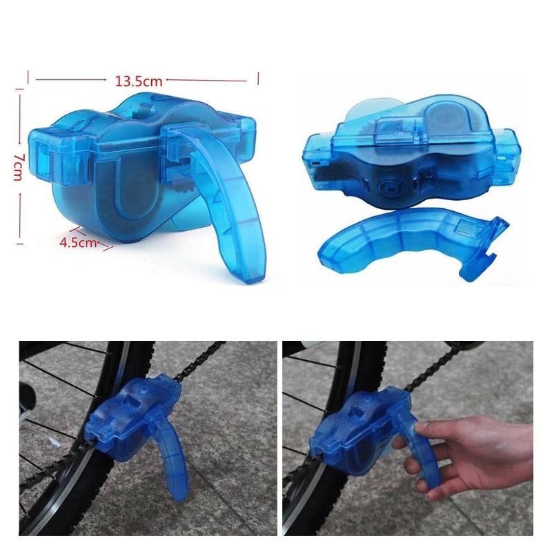 Portable Bicycle Chain Cleaner Bike Clean Machine Brushes Scrubber Wash Tool Mountain Cycling Cleaning Kit Outdoor Sports