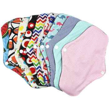 25.5x18 cm Menstrual Pad Reusable Washable Bamboo Cotton Cloth Panty Liner Washable Reusable Menstrual Cloth Towel Pads Soft