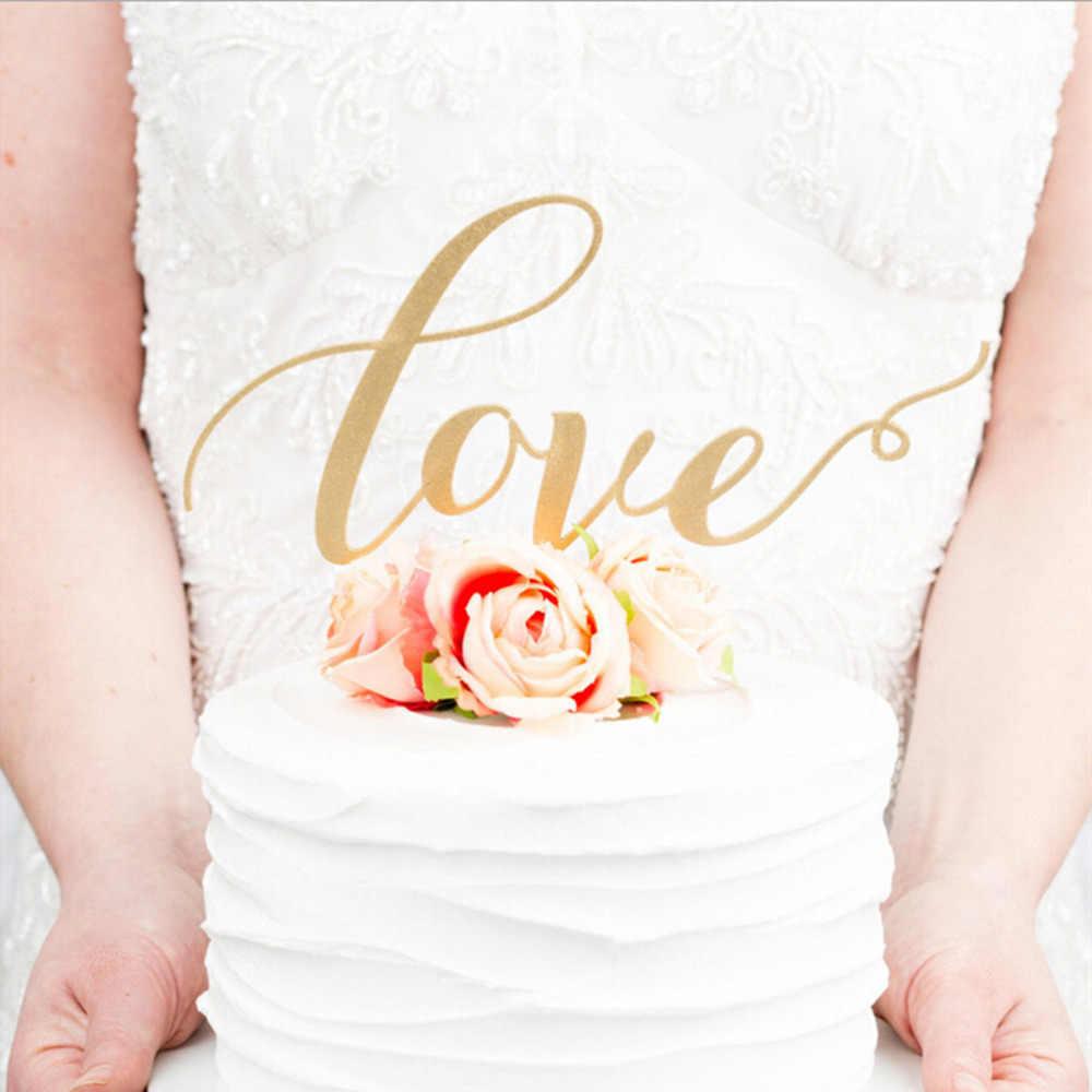 HENGHOME 1 قطعة الزفاف كعكة ديكو الحب كعكة الزفاف توبر الاكريليك شخصية تصميم الزفاف حزب الديكور كعكة التبعي