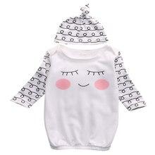 Сонные глаза для новорожденных девочек+ румяные щеки Одежда для новорожденных шляпа новое поступление Модная одежда для новорожденных Возраст 0-6 месяцев