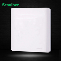 White 86mm Standard Wall Switch Blank Plastic Cover Plate