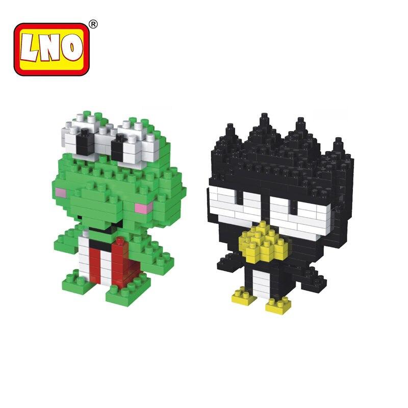 Blocks Sunny Lno Nano Blocks Diamond Building Bricks Action Figures Big Eyed Frog Cool Penguin Anime Model Diy Assembly Toys For Kid Gifts 100% Original