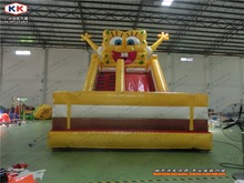 Lovely cartoon inflatable slide Commercial inflatable slide for sale