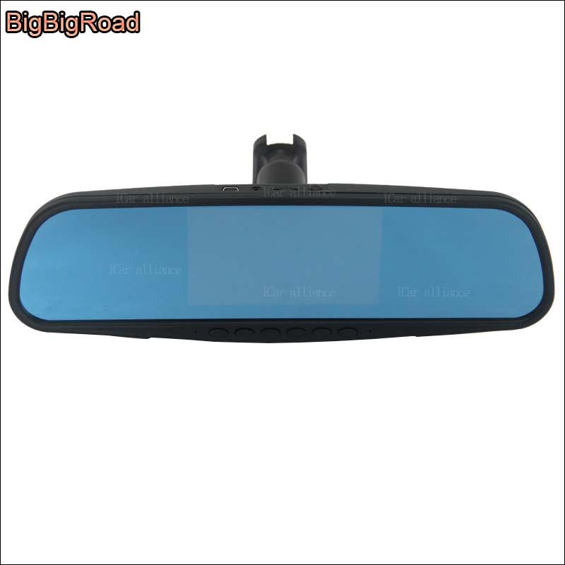 BigBigRoad For chevrolet cruze epica Car Mirror DVR dual camera Video Recorder Dash Cam Parking Monitor with Original Bracket цена