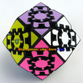Lanlan Gear Rhombic Dodecahedron Magic Cube Puzzle Black Learning&Educational Cubo magico Toys