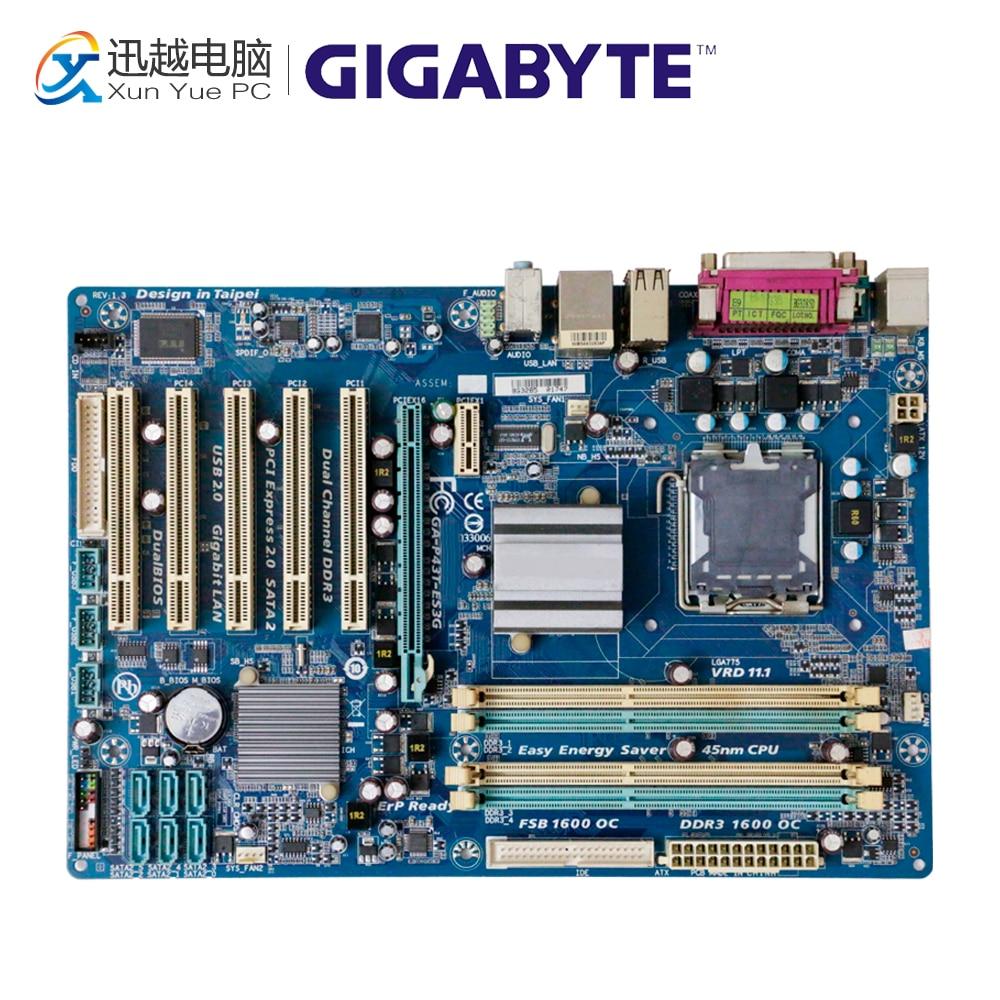 Gigabyte GA-P43T-ES3G escritorio P43T-ES3G P43 Socket LGA 775 DDR3 ATX en venta