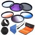 52mm Circular Polarizador CPL UV FLD Filtro Graduado Filtro de Cor ND conjunto de lentes para nikon d5100 d5200 d5300 d3100 d3300 d3200 slr