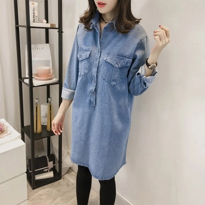 Spring Autumn Women Jeans fashion maternity jacket Pregnant Long Sleeve Maternity Clothes Pregnant Maternity skirt maternity spring and autumn 2016 models long sleeved loose cardigan sweater pregnant women