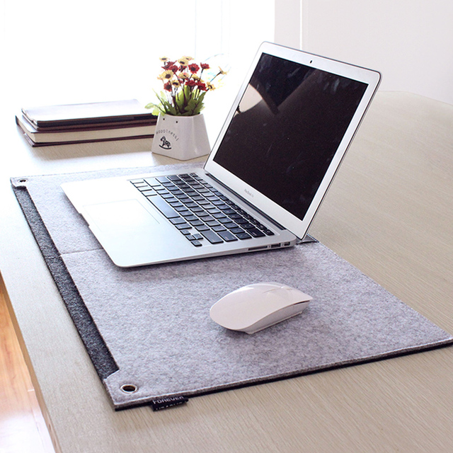 Felt Large Mouse Pad 630*330mm Multi-function Mousepad Mouse Mat Keyboard Mat Table Mat With Pen Jack And Storage Bag