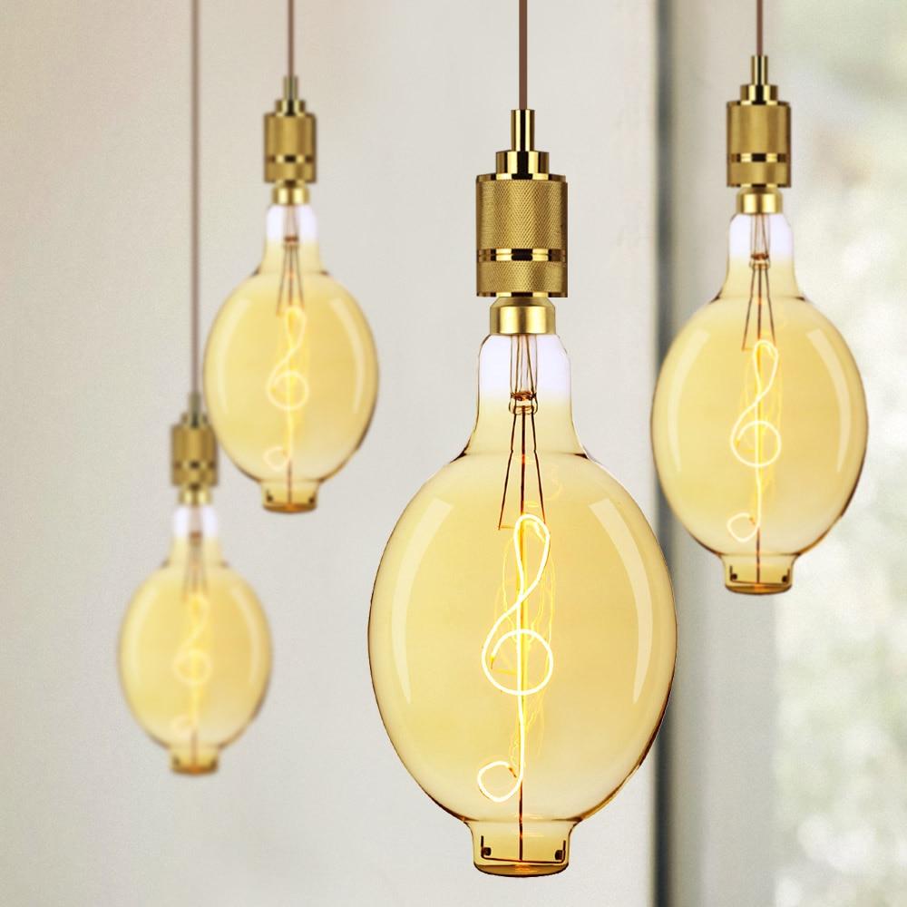 TIANFAN grandes ampoules Edison Vintage ampoule géante BT180 Led ampoule Filament de musique 4W 220/240V E27 ampoule décorative