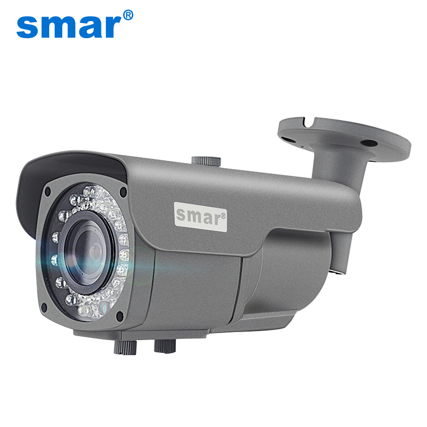 Smar Outdoor Waterproof IP Camera 1080P 4MP 2.8-12mm Lens for Home Security with IR-Cut Filter Night Vision Onvif Camera smar home security 1000tvl surveillance camera 36 ir infrared leds with 3 6mm wide lens built in ir cut filter