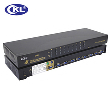 CKL 8 Port PS2 OSD VGA KVM Switch with Cables Support Auto Scan, PC Monitor Keyboard Mouse NVR DVR Server Switcher CKL-9138P