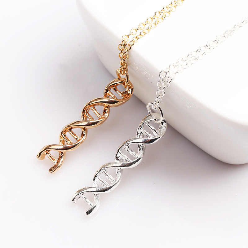 New Arrival Creative Science Jewelry DNA Necklace Biology Jewelry Molecule Necklace Accessories for Women Men Party Jewelry