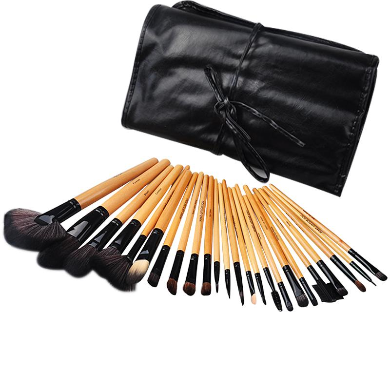 24pcs Makeup Brush Set Make-up Toiletry Kit Wool Make Up Brush Set Case rivamonti свитер