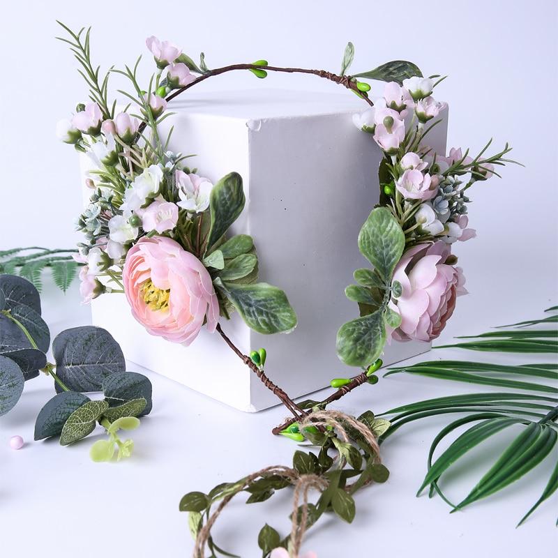 Nuotakos gėlių vainiko galvos papuošalai Vaikų vakarėlių - Drabužių priedai - Nuotrauka 4