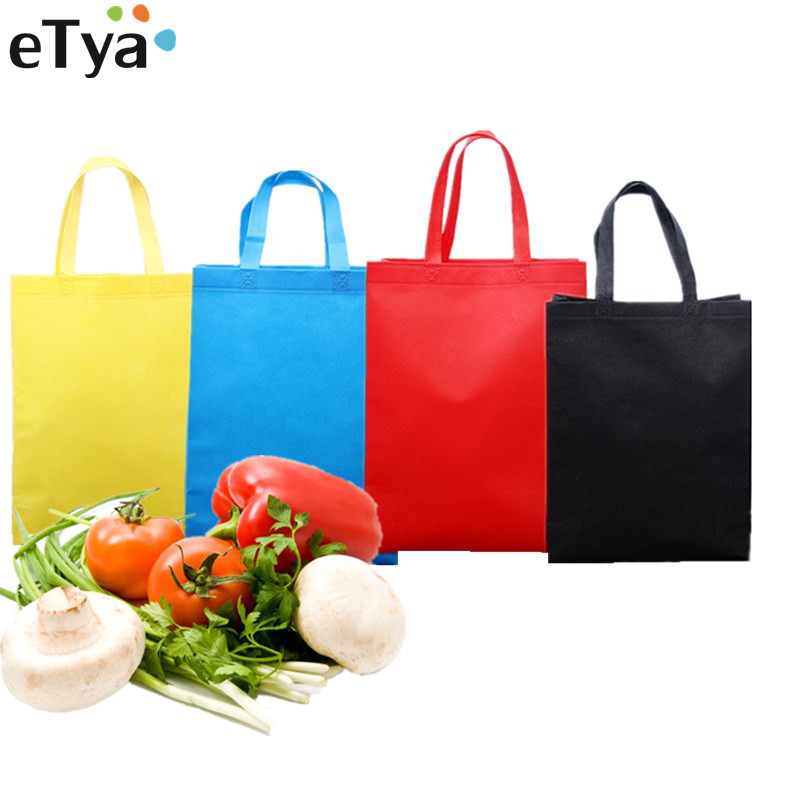 ETya Women Men Reusable Shopping Bag Large Folding Tote Grocery Bags Convenient Storage Handbags