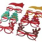 600 pçs decorações de natal para decoração de casa óculos de ano novo para crianças papai noel cervos boneco de neve enfeites de natal aleatório - 5