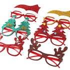 600pcs Kerst Decoraties Voor Home Decor Nieuwe Jaar Bril Voor Kinderen Kerstman Herten Sneeuwpop Kerst Ornamenten Willekeurige - 5