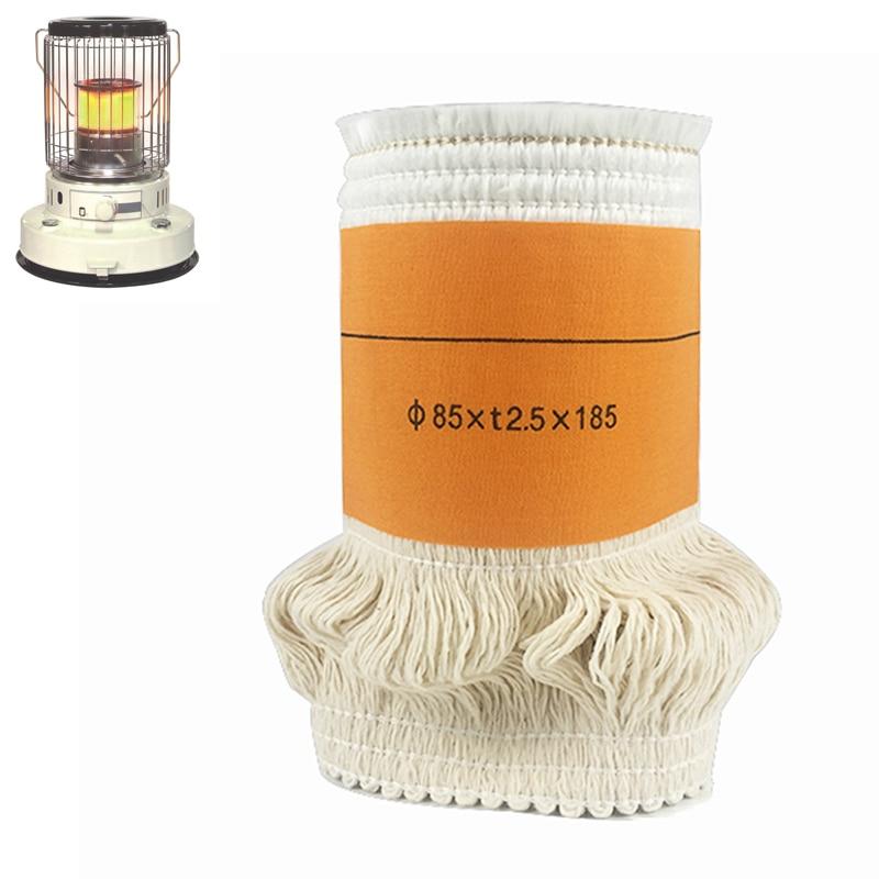 2017Best Selling85 * t2.5 * 185mm Mechas de estufa de queroseno Fibra de vidrio de alta calidad + 100% Algodón Calentadores Mecha Envío gratis