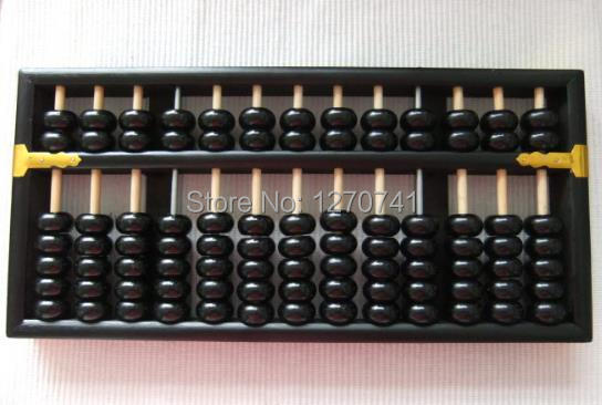 Noir vintage Grand Boulier Chinois soroban 13 colonne no 3 pour comptable banque outil mathématique l'éducation xmf030 livraison gratuite