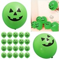 Hot Sale 20pcs/bag 30cm Pumpkin Latex Printed Smiling Face Green Balloons For Halloween Party Wedding Decoration
