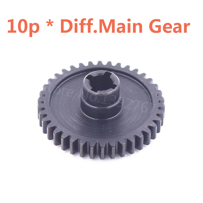 10piece RC Car Spare Parts Wltoys Metal Diff.Main Gear 38T For 1/18 Scale Models A949 A959 A969 A979 k929 Remote Control Car free shipping 78pcs gear set tyre tires special umbrella teeth gears rack car shaft spare parts for diy rc car aircraft models