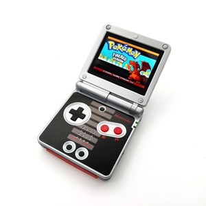 Image 2 - مجددة ل GameBoy مقدما SP ل GBA SP وحدة التحكم AGS 101 الخلفية الخلفية الشاشة NES الطبعة وحدة التحكم