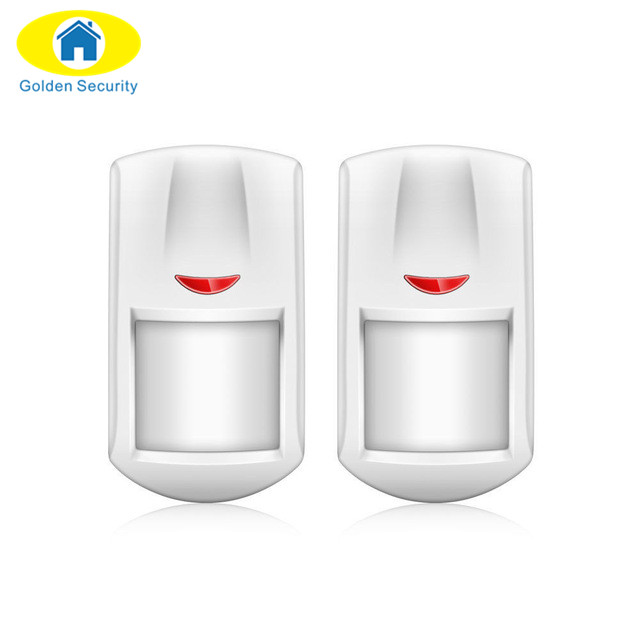Golden Security Free shipping Wireless Indoor Motion Detector  LED Alarm Sensor for G90B gsm pstn wifi home alarm system yobangsecurity wifi gsm gprs home security alarm system android ios app control door window pir sensor wireless smoke detector