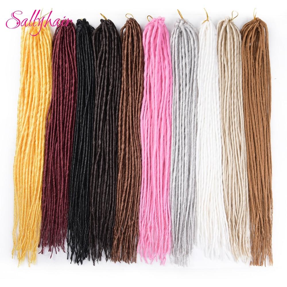 Sallyhair pack strands dreadlocks inch synthetic