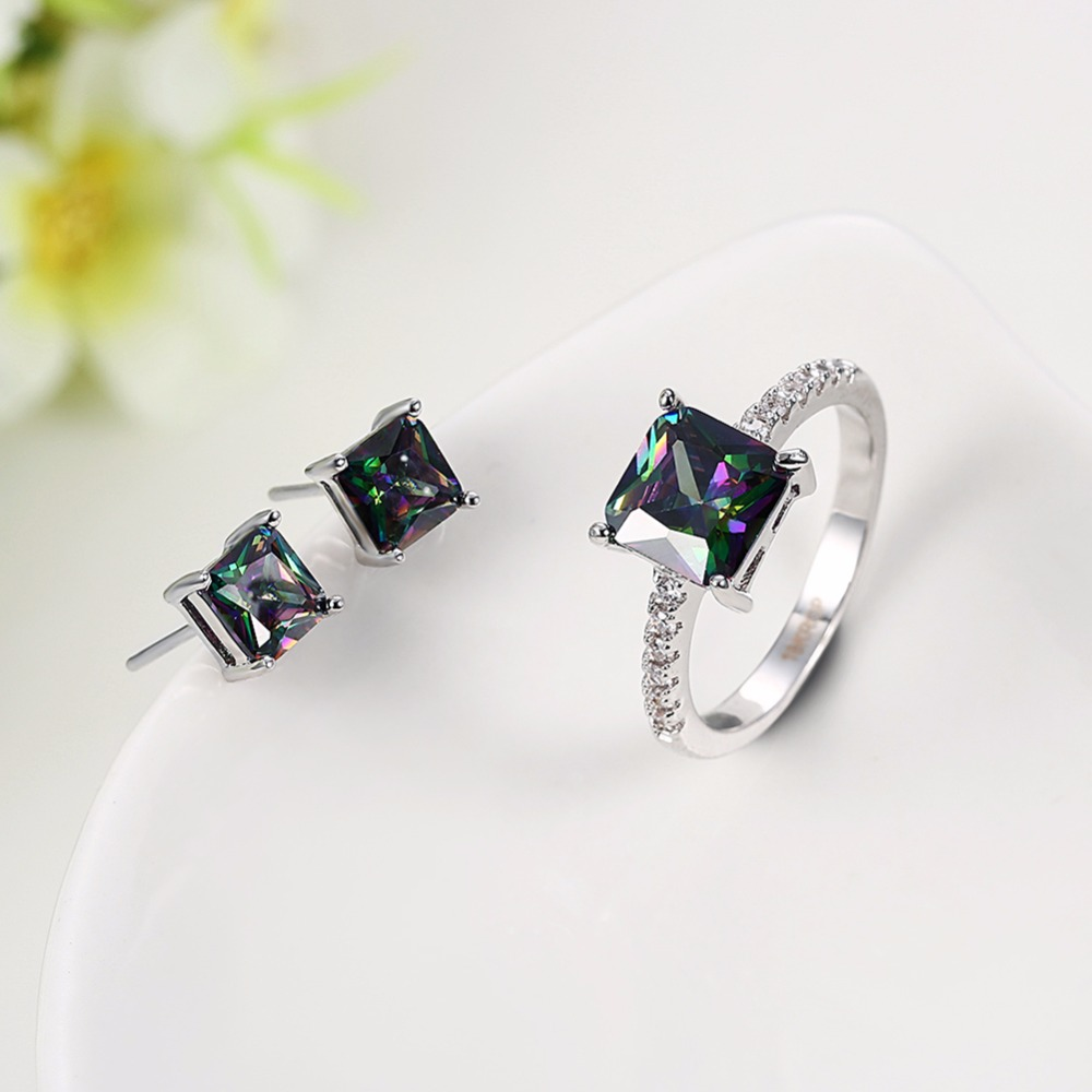 MEGREZEN Wedding Jewelry Sets For The Bride Earrings And Rings Dubai