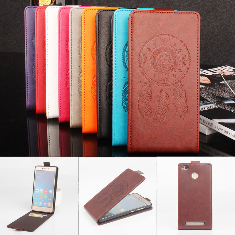 Xiaomi Redmi 3S Flip Case Embossed Leather Case Cover for Xiaomi Redmi 3S Pro / Redmi 3S Prime / Redmi 3 Pro Vertical Back Cover