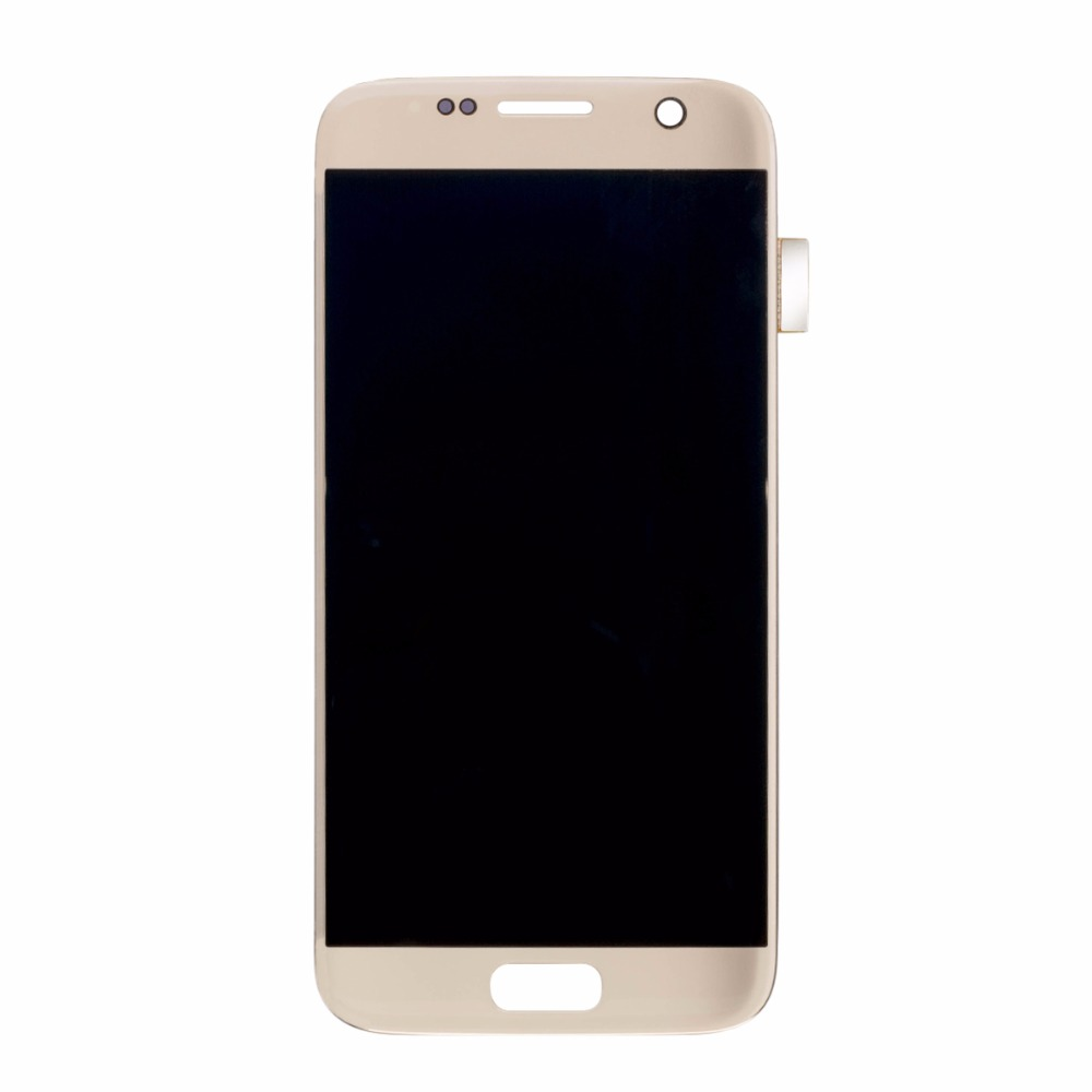 50PCS Lot Lcd Display Screen Replacement for font b samsung b font s7 Lcd Screen with