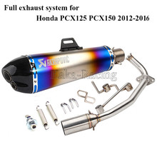 PCX 125 150 Motorcycle Full Exhaust System Slip On 470MM akrapovic Exhaust muffler Escape moto for Honda PCX125 PCX150 2012-2016(China)