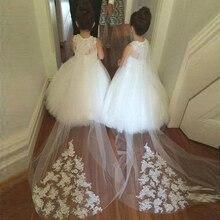 Bbonlinedress Ball Gown Flower Girl Dresses 2019 Keyhole Back Wedding Party Dress Vestidos de nina de flores 2019 flower print keyhole back tunic dress