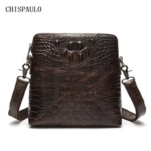 CHISPAULO Real Genuine leather men bag Brand New Fashion Brand Designer Handbags shoulder belt messenger bag Vintage Casual T684