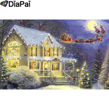 DIAPAI 100% Full Square/Round Drill 5D DIY Diamond Painting House snow scene Embroidery Cross Stitch 3D Decor A18769
