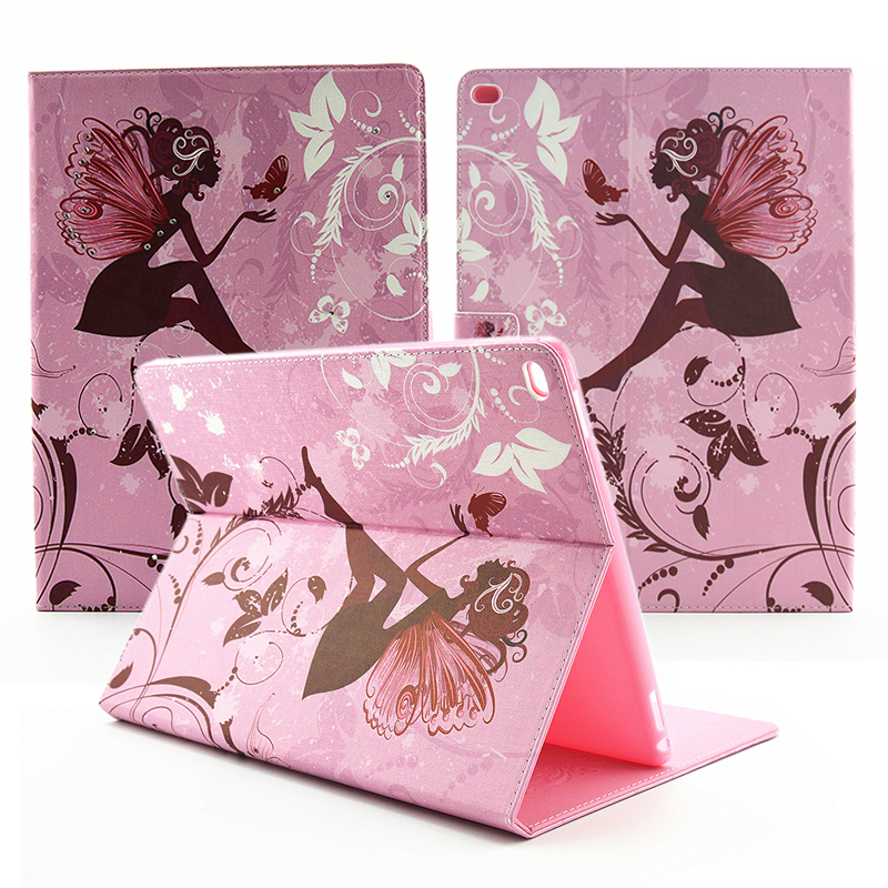 Beautiful Rhinestone Flower Flip stand PU leather case for ipad 2/ipad