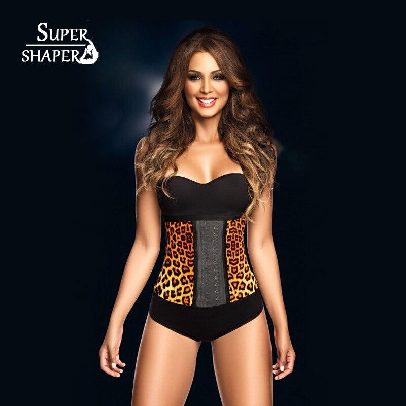 Top Sexy <font><b>Steel</b></font> Boned <font><b>Ribs</b></font> Leopard Shapewear Women Neoprene Slimming Waist Body Shapers Belt Body Slimming Cinchers Waist <font><b>Corset</b></font>