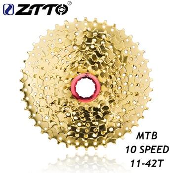 ZTTO 11-42T 10 prędkości szeroki stosunek MTB rower górski rower złoty złoty kaseta koła dla części M6000 M610 M675 M780 K7