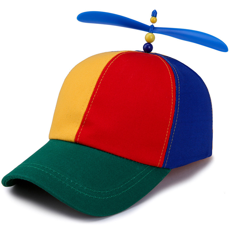 2019 New Boys And Girls Hat Children's Baseball Hats Summer Outdoor Sunshade Cap Colorful Stitching Windmill Funny Caps