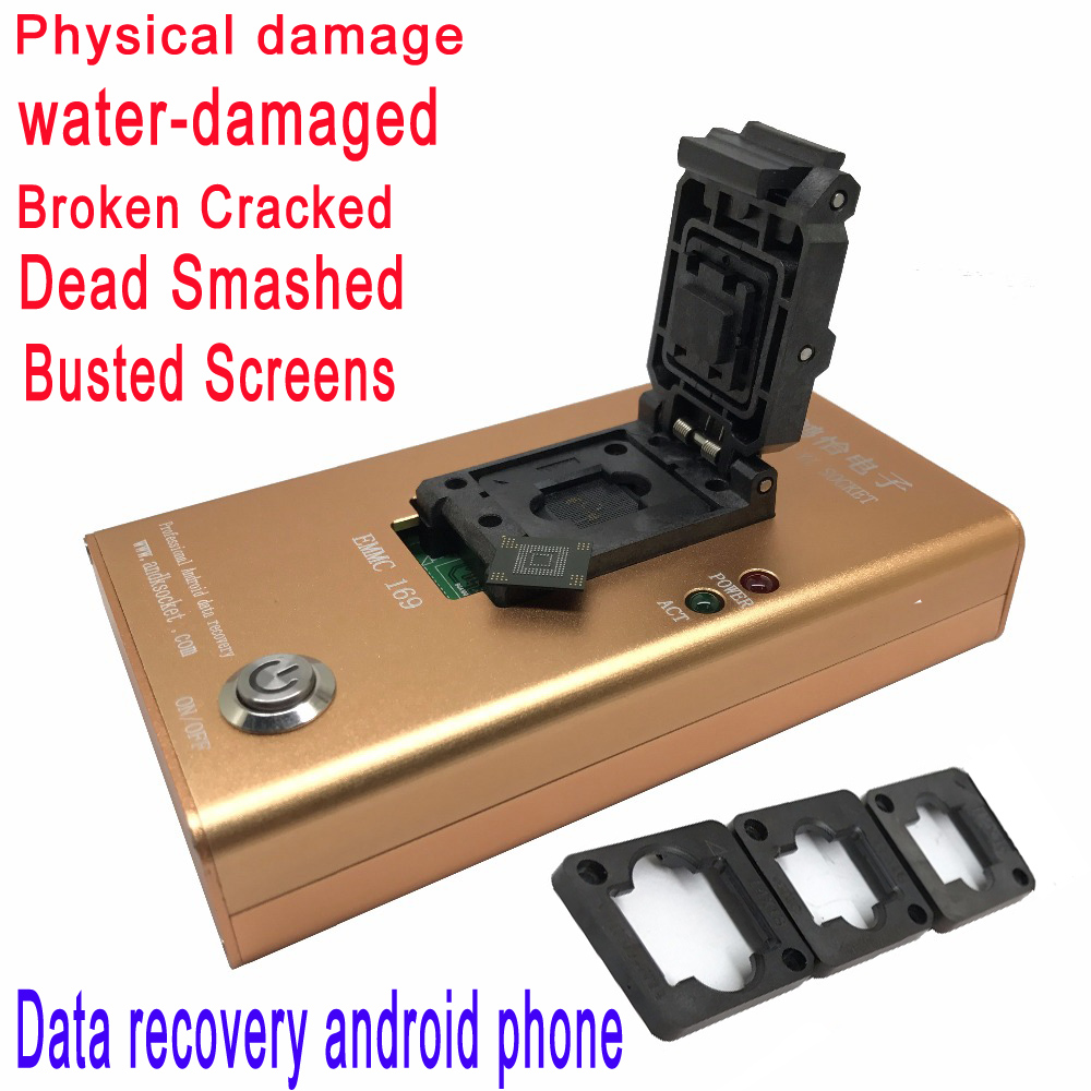 EMMC153 169 Socket Data Recovery Device For Android Phone NAND Flash Chips Rescue Contacts,Messages,Pictures And Recently Files